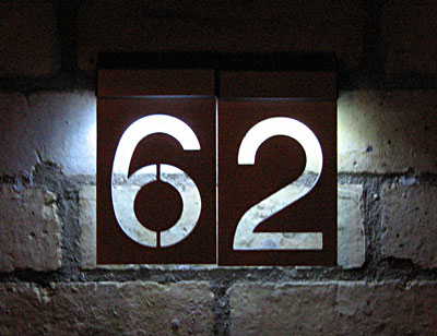 solar powered house numbers per number. Black Bedroom Furniture Sets. Home Design Ideas
