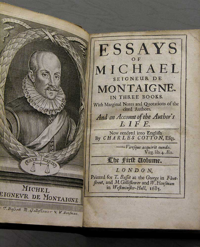 "essay on friendship by montaigne Years later, the bond montaigne shared with la boétie would inspire one of his best-known essays, ""on affectionate relationships"" traditionally called 'on friendship'."